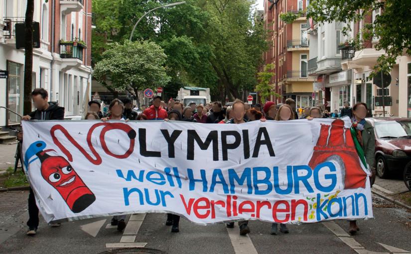 Olympia Wahnsinn stoppen! Stadtteildemo in St. Georg am 4.7.