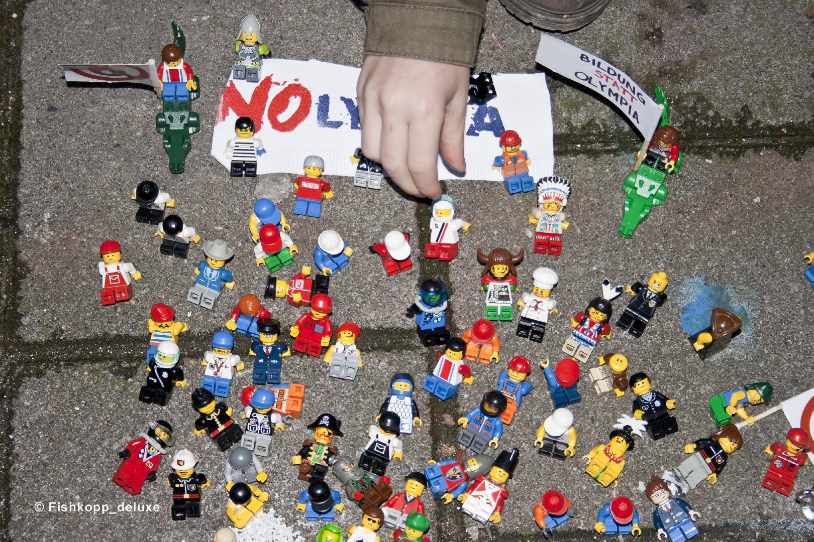 Mini-Demo gegen Olympia